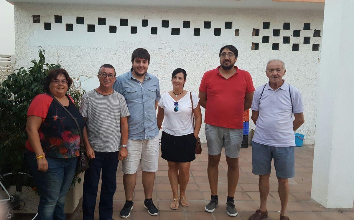 Membres de la nova executiva i Jacinta Rubio, secretària comarcal.